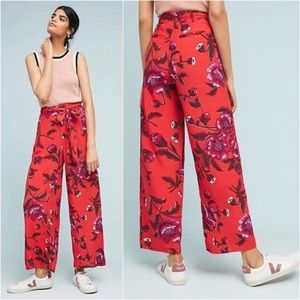 Anthropologie High Rise Wide Leg Trousers